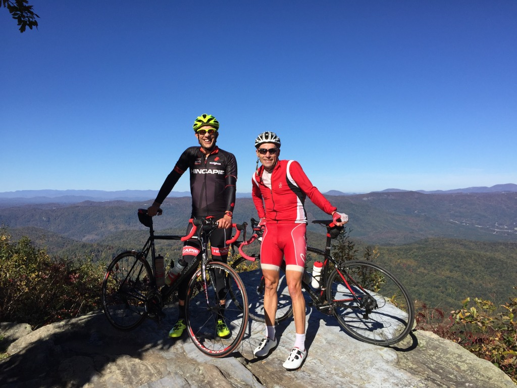 Climbing in the mountains of NC