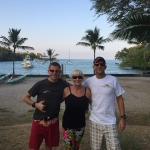 Me, our homestay host Sherri, Mike - friend/support team